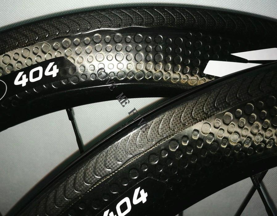 New Listing Super light 303 404 808 dimple surface carbon wheels 700C rims Golf surface 45mm 50mm 58mm 80mm road bike wheels 50 303 14