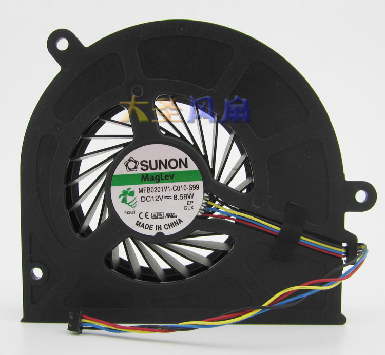 For SUNON MFB0201V1-C010-S99 One machine cooling fan DC12V 8.58W 0.7A 4wire 4pin  отражатель для гсп жсп рсп 99 tdm sq0334 0201