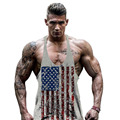 Fitness undertale America flag gyms clothing gymshark bodybuilding tank top men sleeveless shirt vest big plus size 2xl