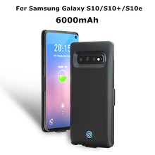 6000mAh Battery Charger Case For Samsung Galaxy S10 Plus S10+ Ultra Thin Power Bank Charging Cover For Samsung S10e Battery Case цена 2017