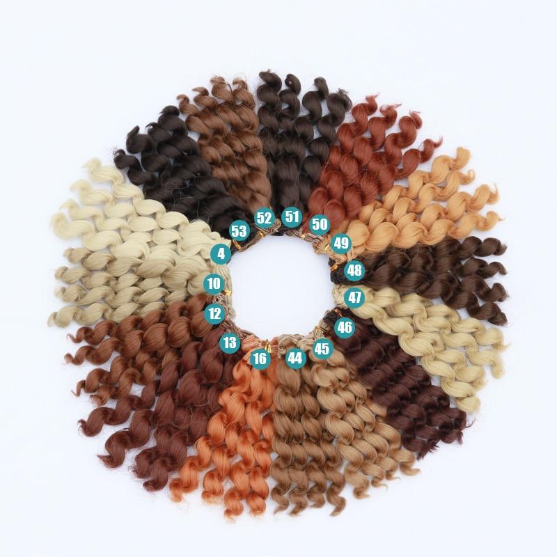 Msiredoll  Bjd Wig Accessories 1piece 15*100CM Doll Hair For 1/3 1/4 1/6 1/12 Curly Doll Hair Bjd Wig Diy Free Shipping