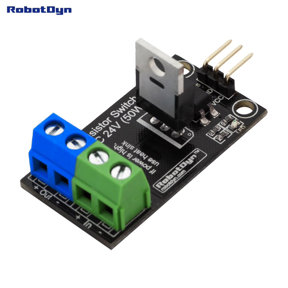 Transistor MOSFET DC Switch, 5V Logic, DC 24V/30A With Optocouplers.