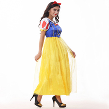 Free shipping Snow White Halloween and Christmas Dress Adult princess fairy dress European American game uniform for women