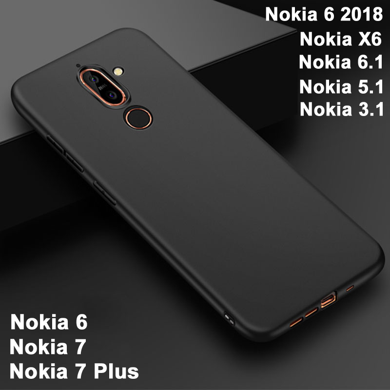 release date: a87fa 3fb10 US $1.59 20% OFF|For Nokia 7 Plus case Silicone cover For Nokia 6 2018 case  Full Body Frosted case For Nokia 6.1/5.1/3.1 case Black For Nokia X6-in ...