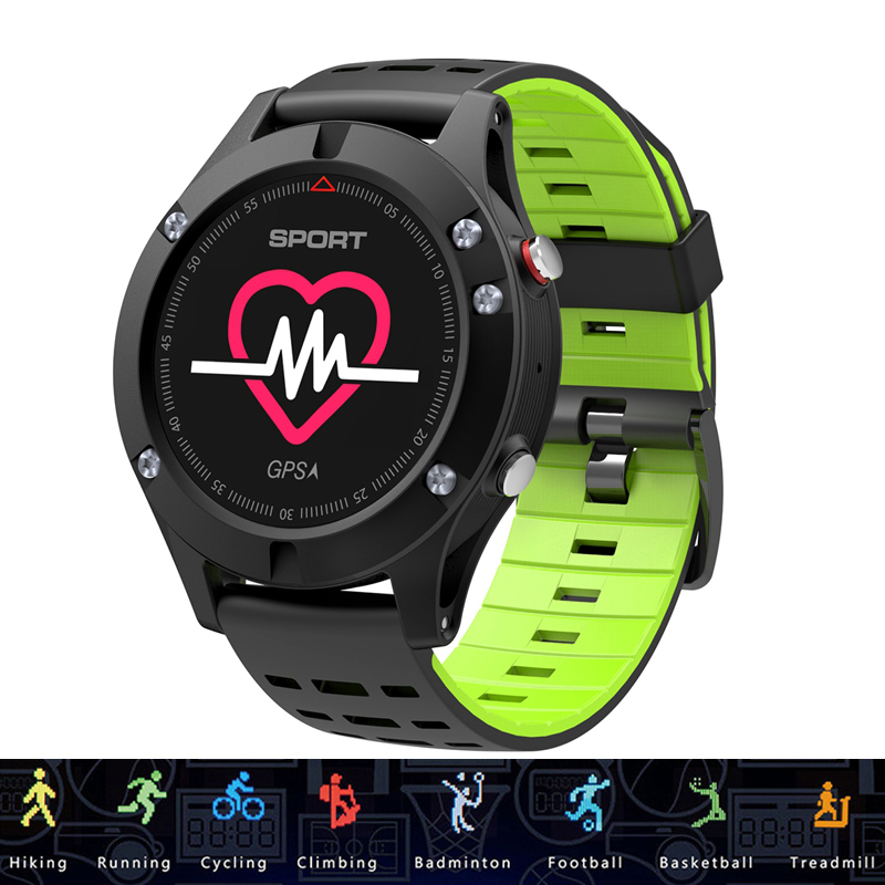 DT NO.1 F5 GPS Smart Watch Heart Rate Altimeter Temperature Thermometer Multiple Sports Modes OLED Fitness Tracker Smartwatch multiple smart watch sports modes bluetooth gps heart rate monitor two side straps sports business smartwatch