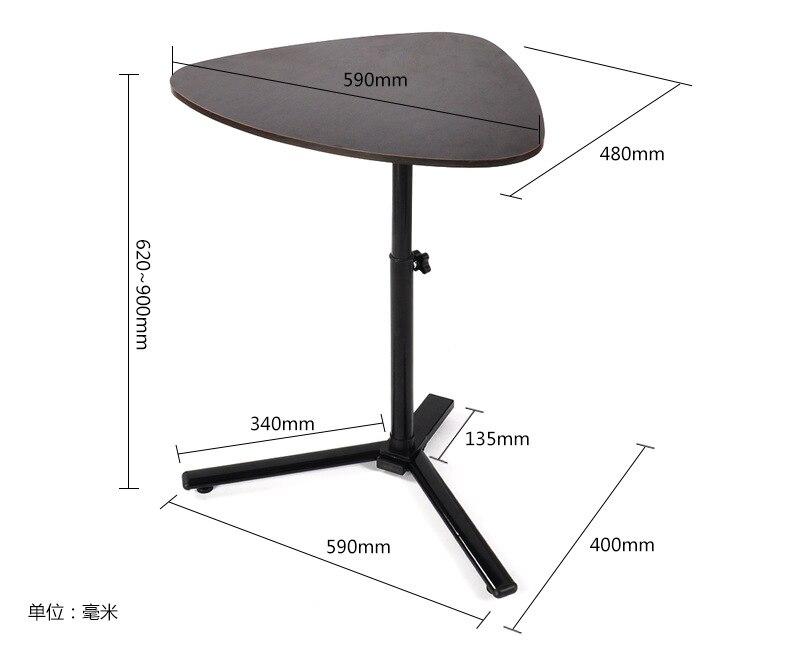 59*48 см многоцелевой в форме сердца Кофейные столики чайный столик ноутбук стол