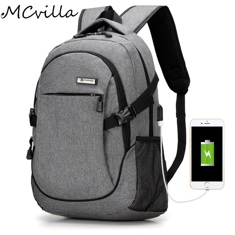 New Oxford Men Women Backpack USB Charge Computer Bag For Teenager Waterproof 18.7 inch Laptop Travel Backpack School Rucksack new canvas backpack travel bag korean version school bag leisure backpacks for laptop 14 inch computer bags rucksack