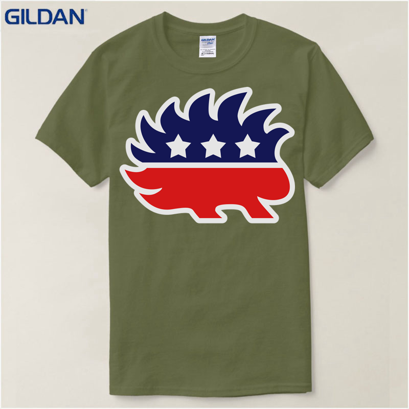 Customized Family Crazy summer Gildan 2018 Really Cool T Shirt O Neck Men  Libertarian Porcupine Design Short Sleeve T Shirt-in T-Shirts from Men's  Clothing ...
