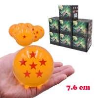 7 taille Anime Dragon Ball 7.6 cm Dragon Ball 1 2 3 4 5 6 7 étoiles boule de cristal PVC figurines d'action poupée modèle jouet cadeau de noël