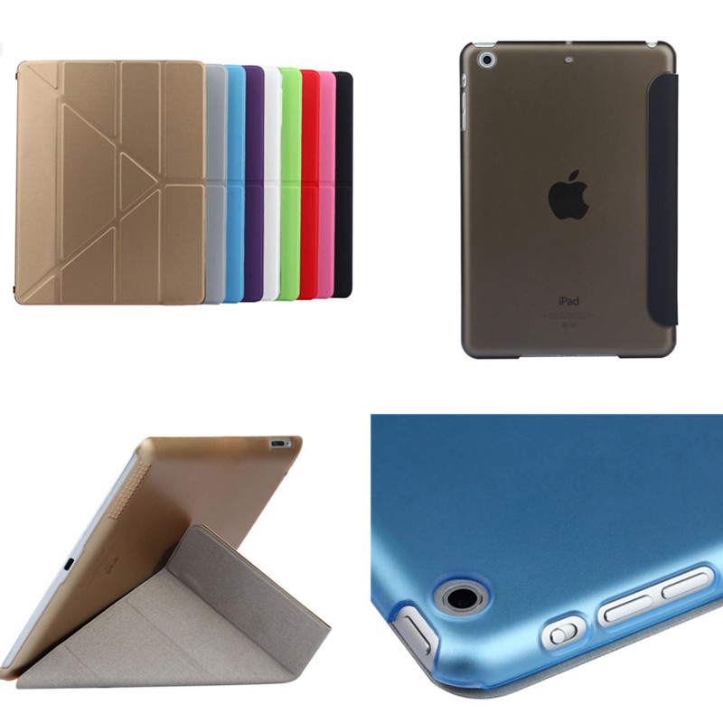 TLP-BX Ultrathin PU Leather Case for iPad Air 1 Air1 9.7 Luxury Cover for iPad 5 With Stand Plastic Back Colorful Clear Cover