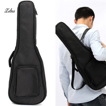 "Zebra 21"" 24″ Black Ukulele Instruments Bag Cover Guitarra Guitar Case Box with Double Shoulder Strap Guitar Parts Accessories"