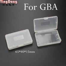 TingDong 20 ピースクリアプラスチックゲームカートリッジケース収納ボックスプロテクターホルダーニンテンドー GBA SP ゲームボーイゲームボーイ GBA