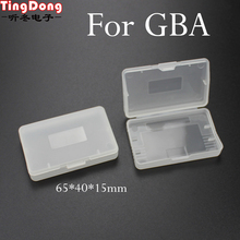 TingDong caja de almacenamiento de cartucho de plástico transparente, 20 Uds., Protector de soporte para Nintendo GBA SP Game Boy GBA