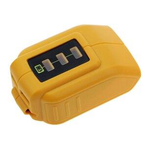 Image 2 - USB Converter Charger For DEWALT 14.4V 18V 20V Li ion Battery Converter DCB090 USB Device Charging Adapter Power Supply