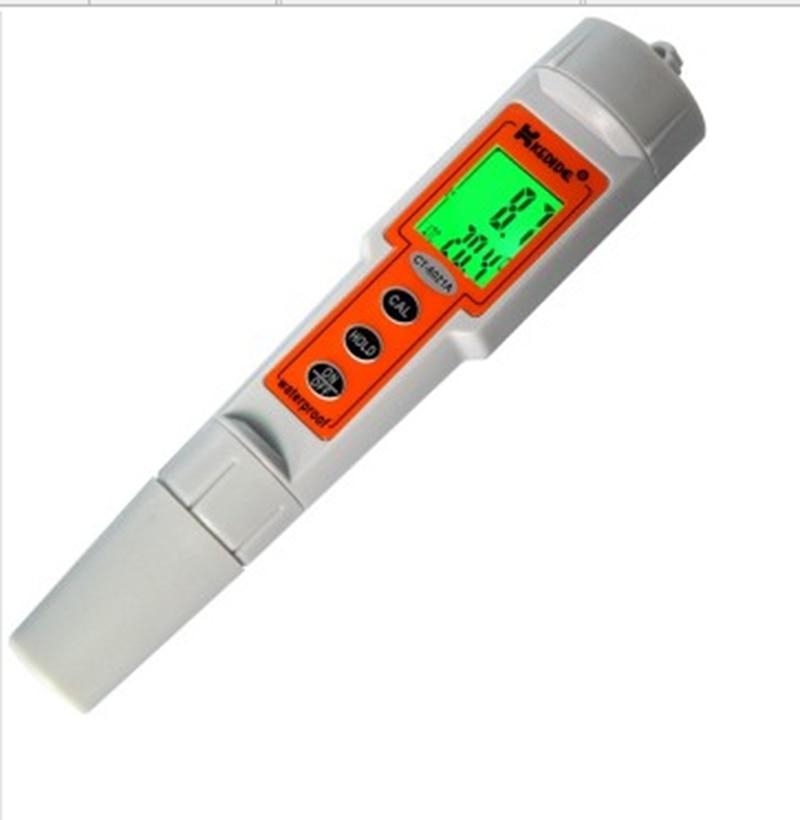 KEDIDA Digital PH Meter 0~14.00 pH Waterproof Ph Temp Tester Backlight Pen Portable Aquarium Laboratory Water Checker CT-6021A