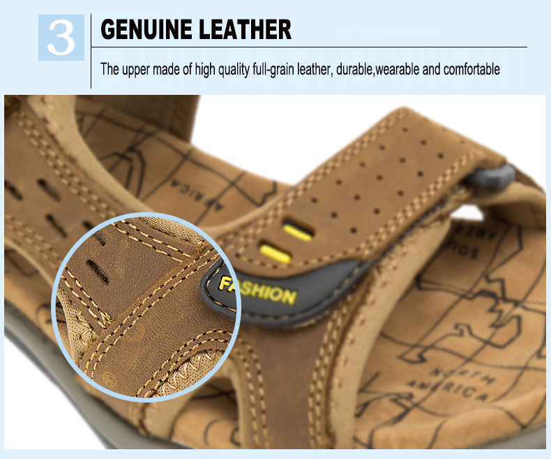 Hot Sale New Fashion Summer Leisure Beach Men Shoes High Quality Leather Sandals The Big Yards Men\`s Sandals Size 38-45 (5)