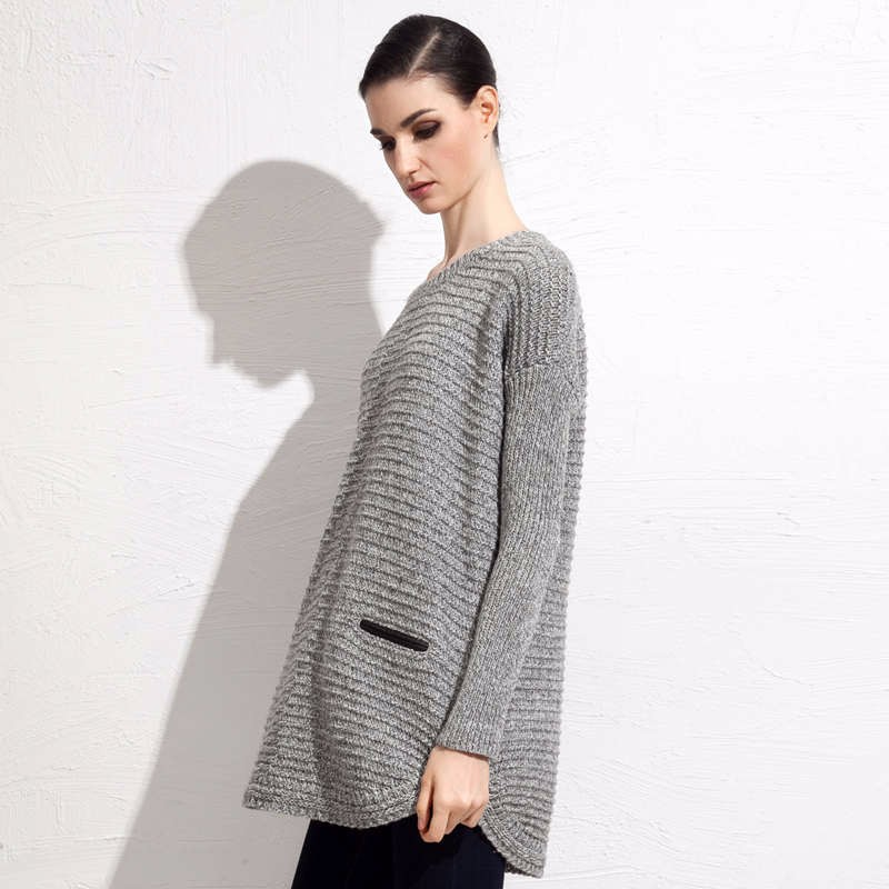 Wool Blends fall mid length sweater 5