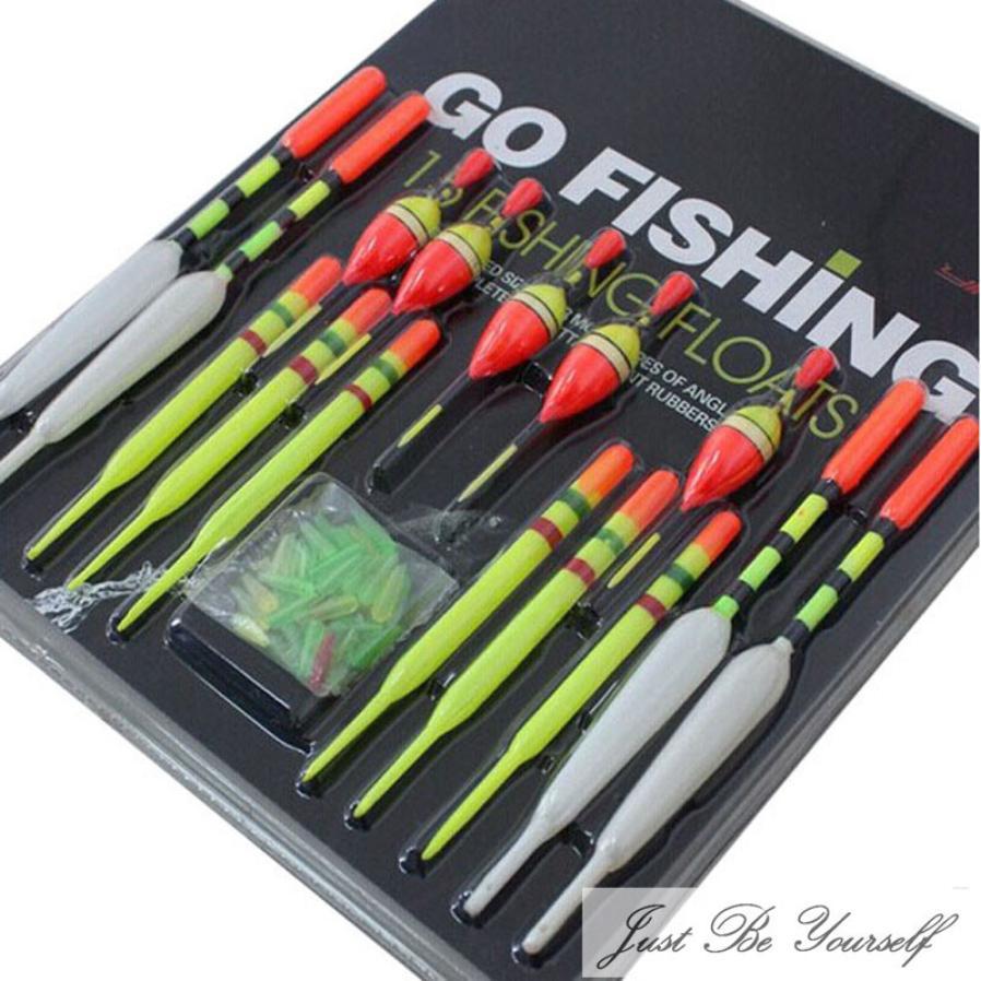 15pcs Lot Fishing Lure Floats Bobbers Slip Drift Tube Fish Tools 3 Sizes Kit