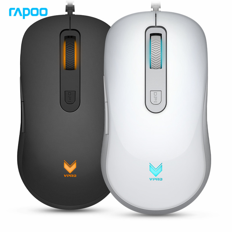 7dbf2777854 New Rapoo V16 Programmable Gaming Mouse 2000DPI 6 Buttons Backlit USB Wired Optical  Mouse Gamer for