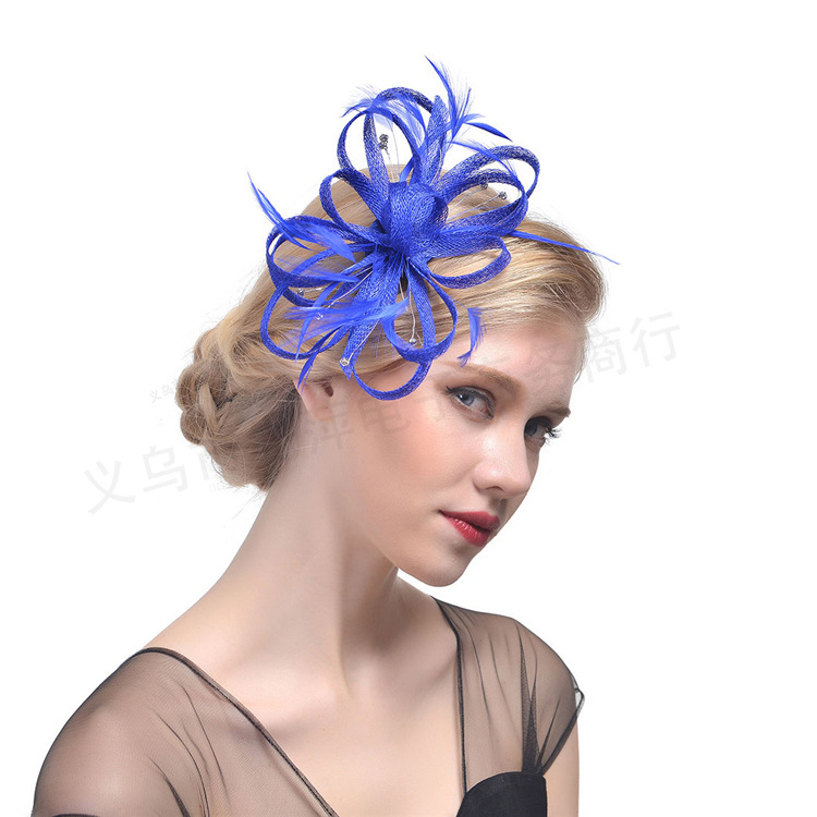 3740b77f6dce Wedding Hats For Women Vintage Net Bridal Hats Black Wedding Accessorie  Brides Fascinator Wedding Birdcage Veil Hairpin-in Bridal Headwear from  Weddings ...
