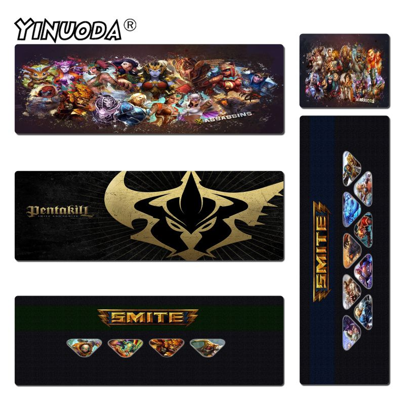 Yinuoda Smite Game Anti-Slip Durable Silicone Computermats Size 30x60cm and 40x90cm Gaming Mousepads