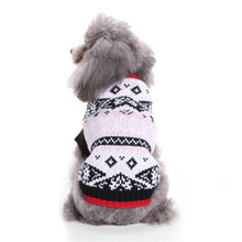 New Autumn/winter Wool Dog Sweaters Simple Christmas Keep Warm Knitting Sweater for Medium and Big Pet Clothes(blue,pink)