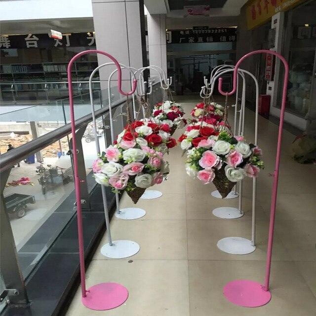 Extrêmement wedding flower ball wreaths metal stand shop open door decoration  HE98