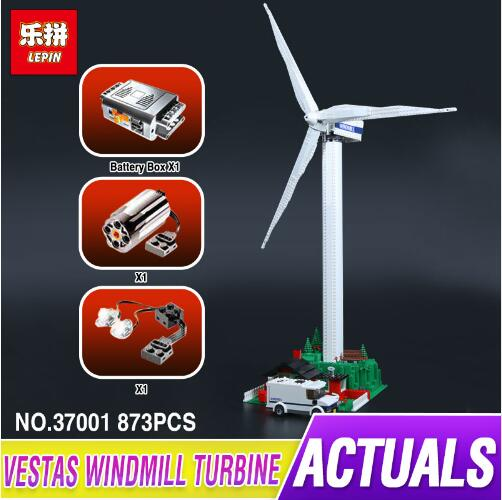 Creative Series LEPIN 37001 The Vestas Windmill Turbine Set Kids Building Blocks Bricks Educational Toys Model Gifts 4999 lepin 42010 590pcs creative series brick box legoingly sets building nano blocks diy bricks educational toys for kids gift