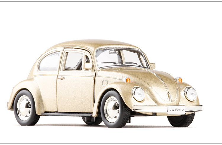 Free Shipping RMZ city 1:32 1967 Volkswagen Old Beetle Alloy Car Model With Pull Back The Door Can Opened For Kids Toy Gifts