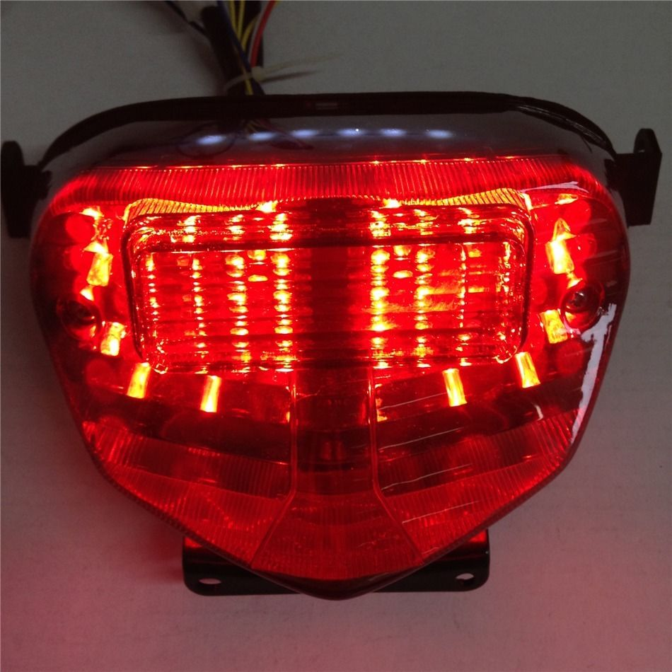 For 2001 2002 2003 Suzuki GSXR 600 750 1000 K1 GSXR750 GSXR600 LED Brake Tail Lights With Integrated Turn Signals Indicators