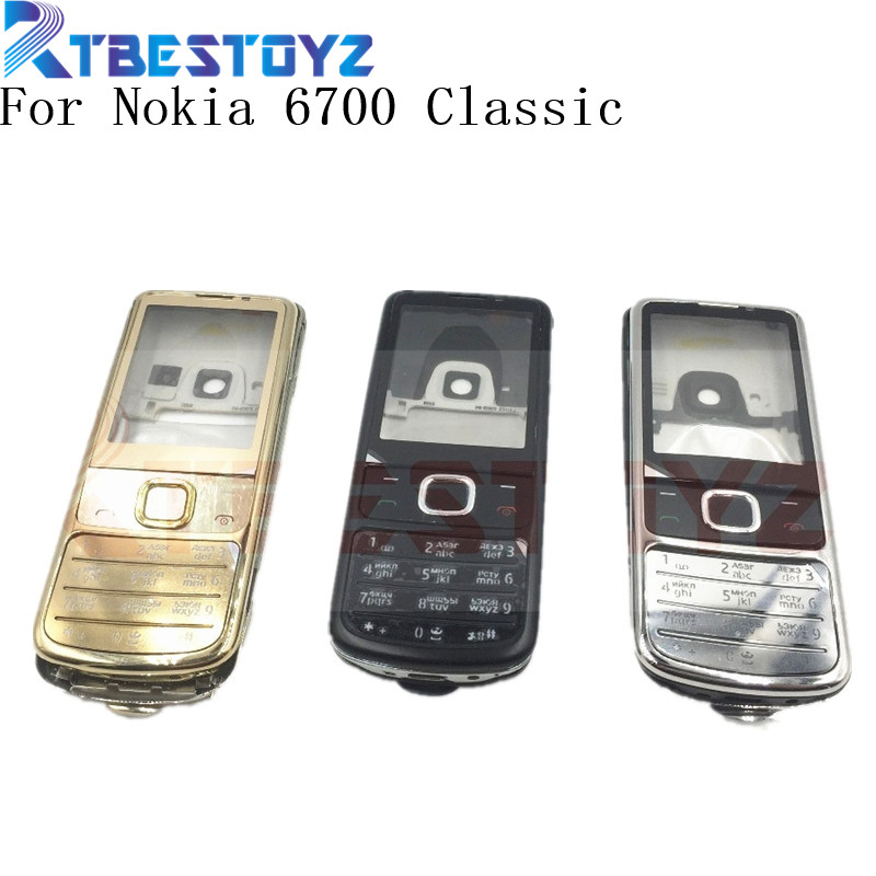 RTBESTOYZ New Full Housing Cover Case Russian English Keyboard Black Silver Golden For Nokia 6700 Classic 6700C