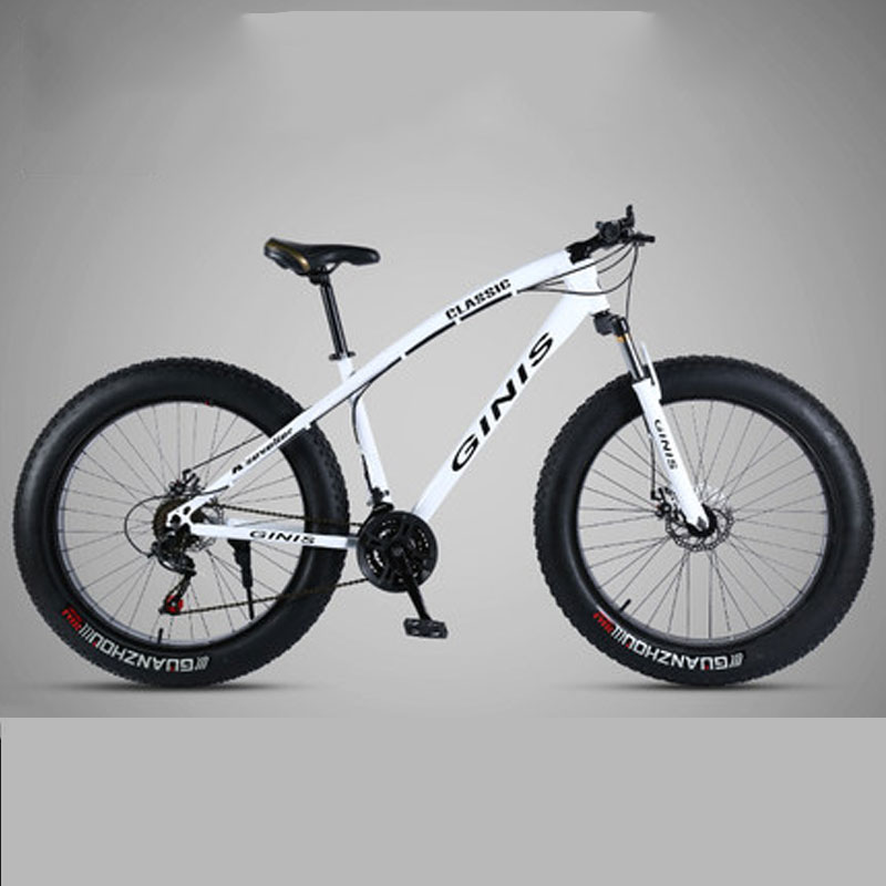 Mountain Bike Super Wide Tire Double Disc BrakeVariable Speed Man And Women Adult Snow Bike Student Cool