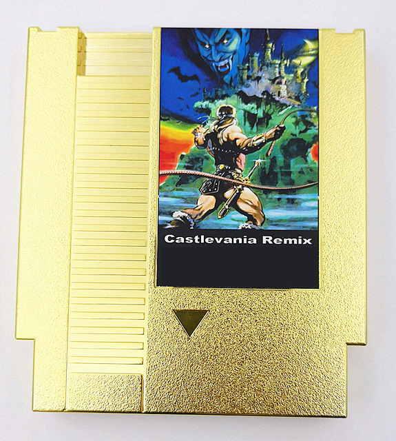 CASTLEVANIA REMIX (Collection of Gold-plated Versions) 42 in 1 Game Cartridge for NES Console
