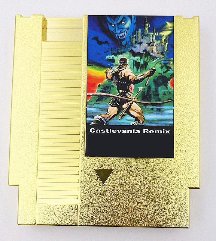 Coleção de Versões Banhadas a Ouro Cartucho de Jogo para Console 42 em 1 Castlevania Remix Nes