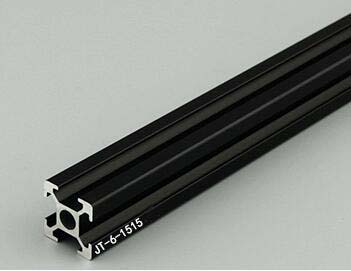 Arbitrary Cutting 1000mm 1515 Black Aluminum Extrusion Profile,Black Color.