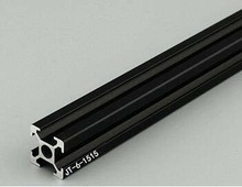 Arbitrary Cutting 1000mm 1515 Black Aluminum Extrusion Profile,Black Color.