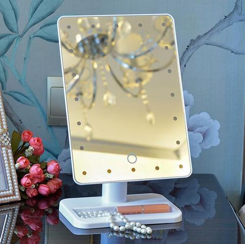 Bot o alto do toque do espelho da defini o espelho port til da princesa