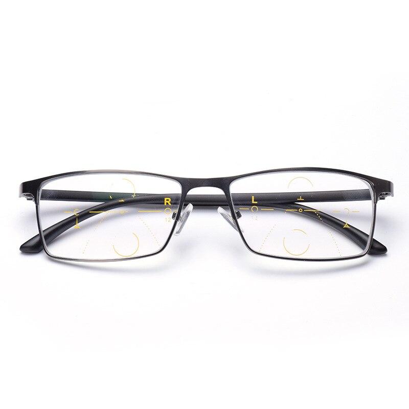 fbf10c71a3 Aliexpress.com: Comprar Gafas de lectura de lentes multifocales  progresistas de marca para hombres presbicia hiperopía Bifocal gafas espejo de  lectura NX de ...