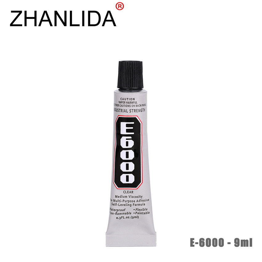 ZHANLIDA E6000 9ml Epoxy Resin Rhinestone Sealant For Jewelry Rhinestone Glass Mobile Glue Gun