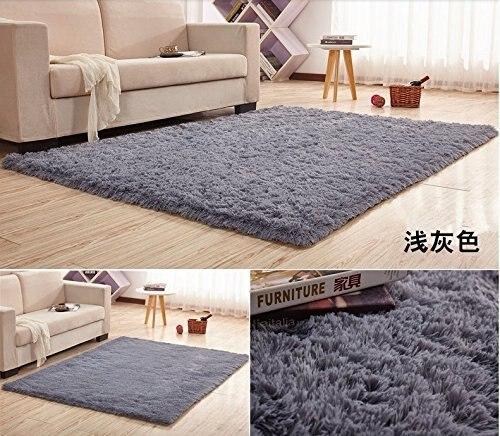 12 Sizes Super Soft Silk Wool Rug Indoor Modern Area Silky Rugs Bedroom Floor