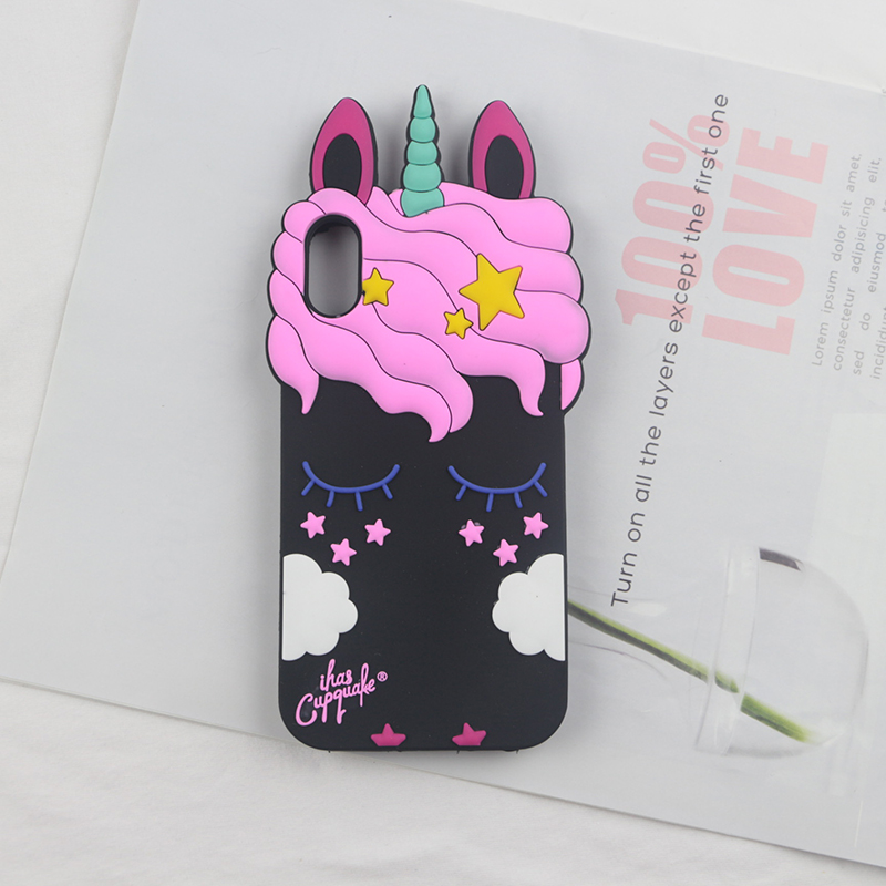 Black Rabbit Horse Unicorn Phone Case