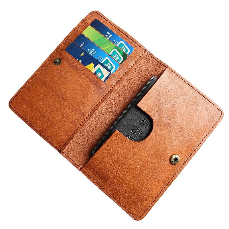 AETOO Slim leather multi-card-bit pack bag men Wallet Creadit Card Holder bank cardholder leather cow pickup package bus card ho