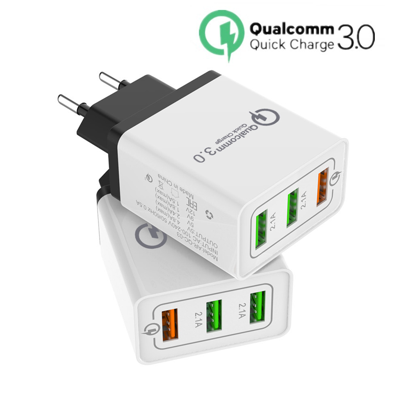 Quick Charge 3.0 USB Charger 5V 2.4A QC3.0 Fast Charging USB Travel Wall Charger for iPhone Samsung Xiaomi Mobile Phone Charger