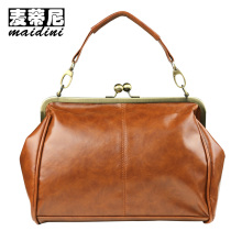 2017 Vintage Ladies Handbags Quality Split Leather Women Shoulder Bag Oil Wax Leather Female Handbag for Ipad Phone Wallets