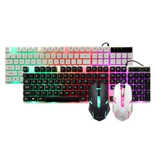 Mechanical Keyboard Waterproof Mouse Mice USB Wired Gaming Accessories for Micro