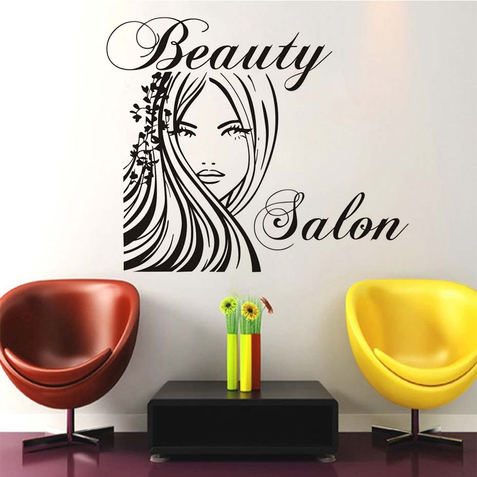 Eyes wall stickers wow modern beauty salon valentine wall decoration - Beauty Salon Home Decor Wall Stickers Self Adhesive Art Stickers Sexy Woman Removable Wallpaper Mural Decals