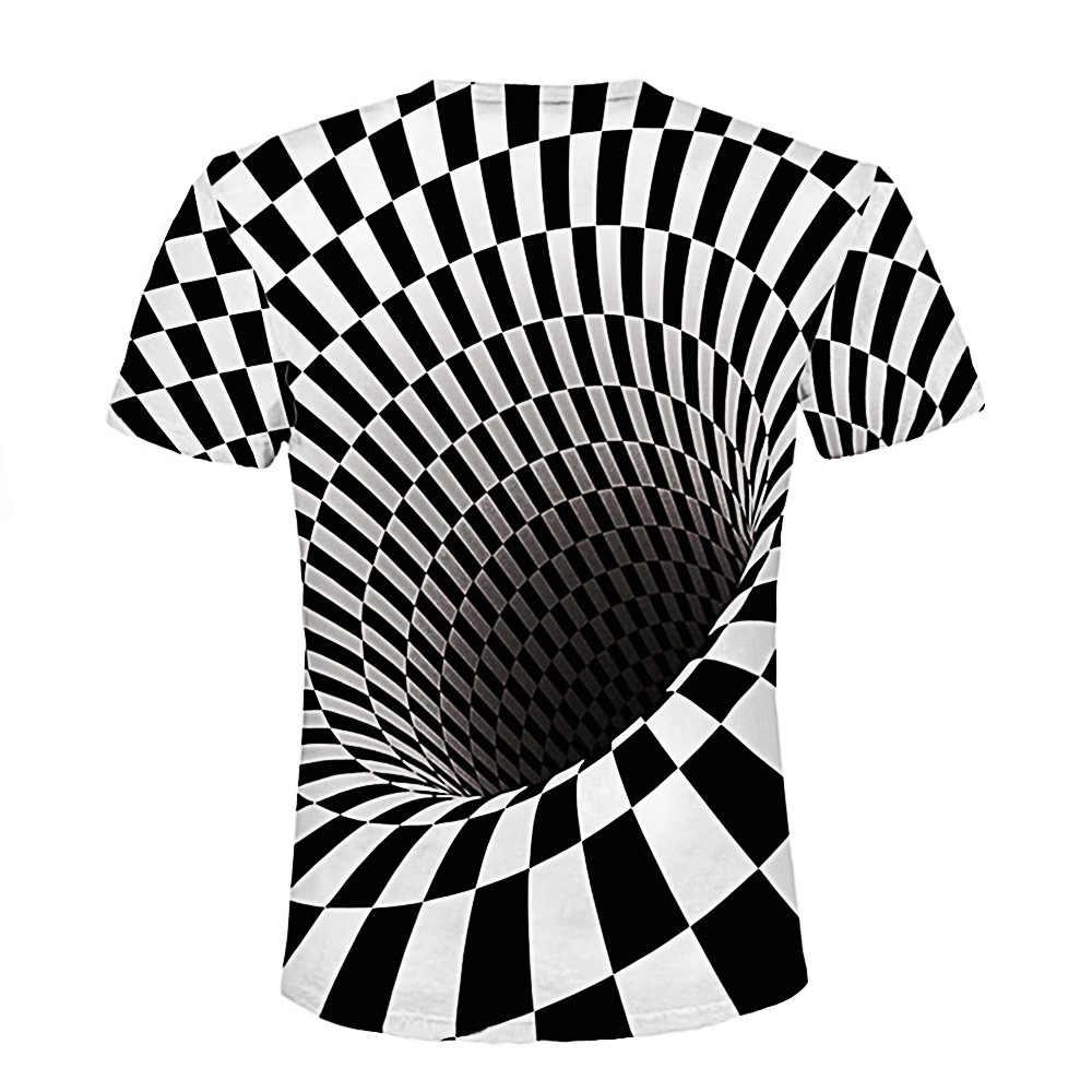 2019 модная летняя футболка с короткими рукавами с 3D принтом Мужская футболка Vertigo гипнотическая красочная печать 3D футболка Бесплатная доставка