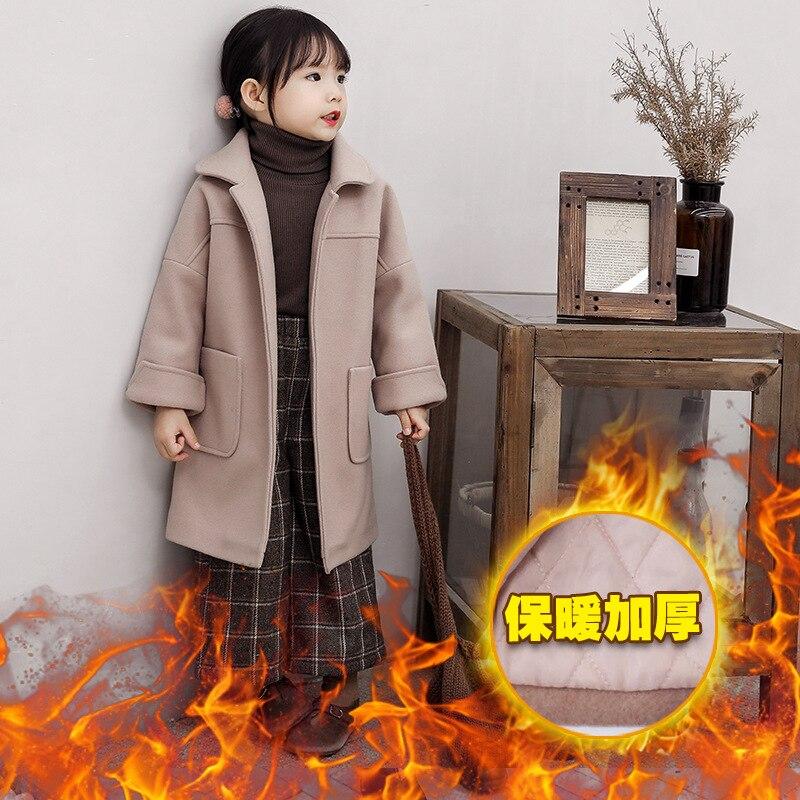 Manteau en laine pour filles manteau en laine d'automne et d'hiver manteau en laine épais vêtements pour enfants
