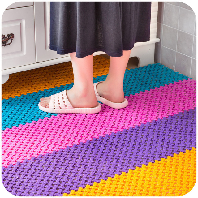Feet Mosaic Kitchen And Bathroom Mats Non Slip Shower Water Door