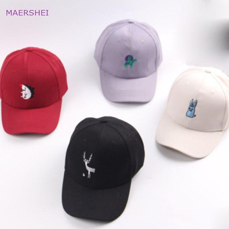 MAERSHEI 2018 вышивка мультфильм животных бейсболка sanpback мальчик из дикого тренд cap Девушки Симпатичные повседневные уличные hat